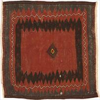Persian-Kilim-Red-Square-Cotton-4X4-11043