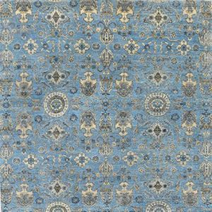 Transitional heritage Light Blue Ziegler Rug