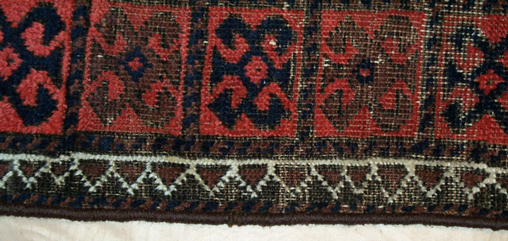 Afghan Carpet After Rebinding