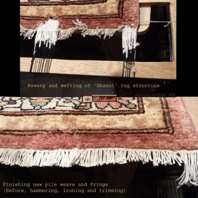 "Rewarp & Wefting of ""Ghazni"" Rug Structure 